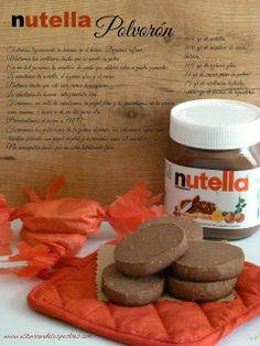 El Zurrón de los Postres: Polvorones de Nutella Holiday Cookie Recipes, Dio, Polvoron, Easy Desserts, Delicious Desserts, Dessert Recipes, Yummy Food, Wilton Cake Decorating, Cute Snacks