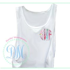 Tank Top with Lilly Pulitzer Monogram by DarlinMonograms on Etsy, $18.00