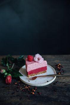 our food stories: glutenfree kusmi tea infused no-bake raspberry cake