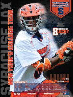 33e23ff89d8 Syracuse Men's Lacrosse Poster 2014- Fourth of 4 in the series Syracuse  University, Lacrosse