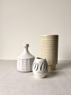 Vintage Vasen, Set von Drei, Westdeutsche Keramik Vasen, Scheurich Keramik, Mid Century Vase, West German Pottery, Vase Mid Century von moovi auf Etsy