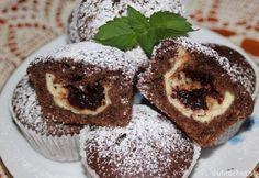 Muffiny s tvarohom a slivkovým lekvárom