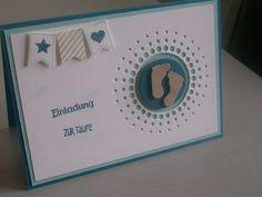Einladungskarten - Einladung zur Taufe - ein Designerstück von Kreativmicha bei DaWanda