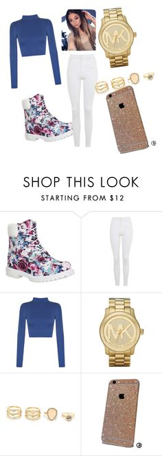 """""""Tims"""" by julianafiliace on Polyvore featuring Timberland, Topshop, WearAll, Michael Kors and LULUS"""