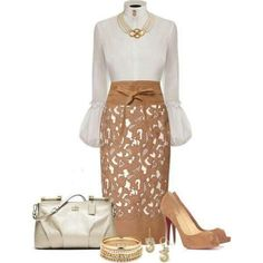 Classy but sassy dressy outfit for work or any function where style matters. Classy but sassy dressy outfit for work or any function where style matters. Mode Outfits, Fashion Outfits, Womens Fashion, Skirt Outfits, Mode Style, Style Me, Daily Style, Classic Style, Style Feminin