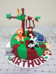 Bolo-Decorado-Safari/Safari Cake