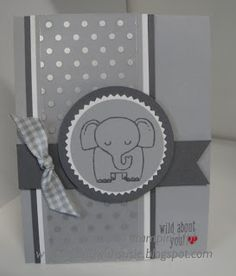 Stampin' Up!- A CUTE little elephant using the 'A Little Wild' stamp set!