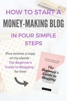 How to start a money-making blog in four easy steps! I've been blogging for two years and am making $1000+ per month in just a few hours (total!). Here's how I did it; along with how you can start your own blog and receive my ebook for free!