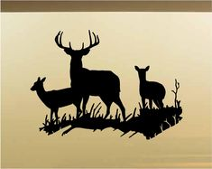Items similar to Family Deer Wall Decals - Vinyl Stickers - Animal Mural - Man Cave - Rustic Cabin Lodge Decor on Etsy Man Cave Wall Decals, Animal Wall Decals, Vinyl Wall Stickers, Rustic Wall Decals, Rustic Walls, Deer Family, Lodge Decor, Stencils, Deer Silhouette