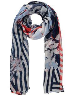 Sjaal Gerry Weber Summer Breeze marineblauw rechthoekig print