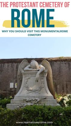 The protestant cemetery of Rome or Rome's non-catholic cemetery, as it is officially called, is one of the most beautiful places in Rome and a Rome hidden gem worth visiting