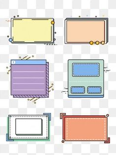 Memphis border simple cartoon cute box dialog PNG and PSD Slide Design, Web Design, Logo Design, Graphic Design Posters, Graphic Design Inspiration, Geometric Box, Powerpoint Background Design, Simple Cartoon, Cute Box