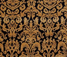 Composition polyester: 26% Rayon 74%  Width 54  Color Gold, Black, Rust/Burnt Orange  Category Chenille  Style Damask, Floral, Traditional,