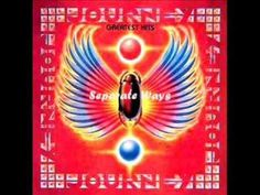 """Seperate Ways (Worlds Apart)"" - Journey. First song I ever heard by Journey. Yes, surprisingly it wasn't 'Don't Stop Believin' that first grabbed me! I first heard this song in TRON: Legacy and fell in love. It was love at first listen <3"