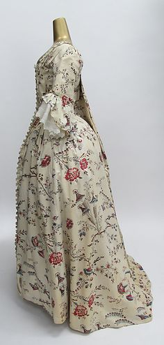 1750-1775 cotton dress, French.