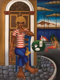 NoBellnoStorm — hellas-inhabitants: Sailor from Nikos. Classical Period, Classical Art, Meditation Images, Modern Art, Contemporary Art, Greece Painting, Hellenistic Period, 10 Picture