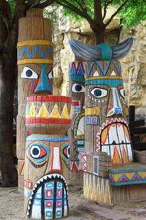 colorful totem.