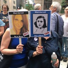 Murdered by Nazis. 1945, 2017. Trump Tower Protest, NYC. #Charlottesville #trumptower #peaceful #protesters