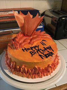 Unique dragon birthday cake