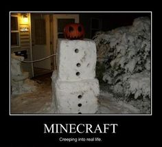A Minecraft snowman?!? Genius, my son's going to love this!