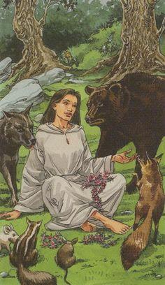 VIII. Strength: Pagan Tarot