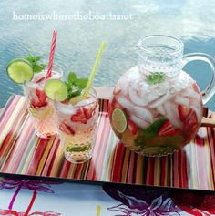 15 Refreshing Summer Drink Recipes Strawberry Lime Agua Fresca via Home is Where the Boat is