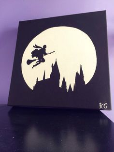 hogwarts silhouette painting - Google Search