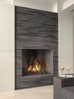 "contemporary gas fire steel ""Wigwam"" 
