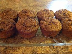 Healthiest muffins ever 1 1/2 cup bran buds (water to moisten) 1/2 cup each dried cranberry,prune,walnuts 3 tblsp Greek yogurt 1 egg and 1 cup milk whisked together  1/4 cup coconut oil melted   Mix all these ingredients together just until incorporated.  1 cup whole wheat flour  3 tblsp each ground flax and red bran 1 teasp each baking powder and soda 1 teasp pumpkin pie spice  Add dry to wet ingred. and add enough liquid (I use milk) to make the consistency of muffin batter. Bake @350… Bran Muffins, Protein Muffins, Healthy Muffins, Fun Recipes, Muffin Recipes, Breakfast Recipes, Bran Buds, Clean Eating Muffins, Muffin In A Mug