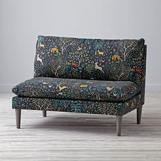 Shop Upholstered Settee.  We've done the unthinkable with our As You Wish Upholstered Settee.  If our research is correct, when you add one to your bedroom or playroom and ask your kids to sit quietly, they often say thank you.