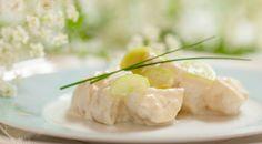 Neitsytperunasalaatti - salad with new potatoes and rhubarb