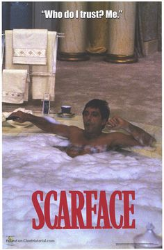 movie poster image for Scarface The image measures 580 * 886 pixels and is 285 kilobytes large. Scarface Quotes, Scarface Poster, Scarface Movie, Really Good Movies, This Is Us Movie, I Movie, Al Pacino, Movie Poster Art, Film Posters