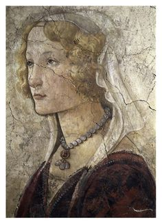 Sandro Botticelli - Young Woman Receives Gifts From Venus and The Three Graces (Detail of The Young Woman) - Art Print