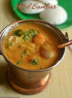 I am not a big fan of Saravana Bhavan Sambar, but when I was searching for hotel sambar recipes, this recipe caught my attention so bo. Indian Vegetarian Dishes, Indian Dishes, Vegetarian Cooking, Easy Cooking, Vegetarian Recipes, Veg Recipes, Curry Recipes, Indian Food Recipes, Cooking Recipes