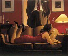 The Parlour of Temptation, Jack Vettriano (1951- ), 2004. Via.