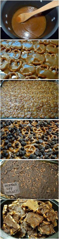 Salted Caramel Pretzel Bark ~ knowkitchen