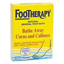 Footherapy Foot Bath is amazing. Not only does it remove corns and calluses away, it leaves your tired achy feet feeling relaxed and so soft.