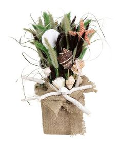 Look what I found on #zulily! Barefoot Burlap Tabletop Arrangement #zulilyfinds