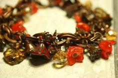 Rustic copper charm bracelet £20.00