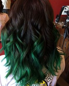 Dark To Green Ombre Hair