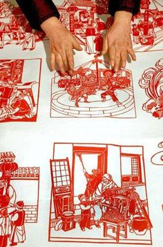 DIY Paper-cut is a very distinctive visual art of Chinese handicrafts. Can you design your own masterpiece with just paper & a pair of scissors? Chinese New Year Traditions, Chinese Design, Chinese Style, Chinese Paper Cutting, Chinese Crafts, Paper Artwork, China Art, Chinese Culture, How To Make Paper