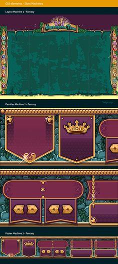Slots Social Game | GUI Design by Naida Jazmín Ochoa on Behance