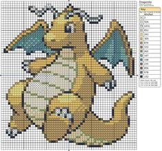 149 - Dragonite by Makibird-Stitching