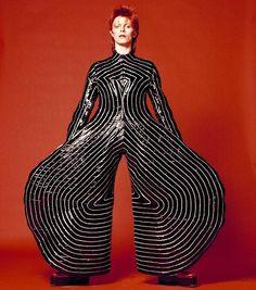 David Bowie's striped bodysuit designed by Kansai Yamamoto for Aladdin Sane tour