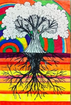 The Lost Sock Blog - Corresponding tree and branches drawing done using lighting windows for tracing