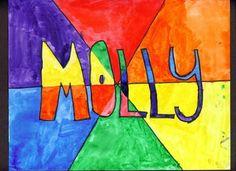Art Makes Kids Smart: Grade Complementary Colors (Color Wheel) Color Wheel Lesson, Color Wheel Art, Name Art Projects, Color Wheel Projects, Art Education Projects, Color Art Lessons, Contrast Art, 2nd Grade Art, Grade 2