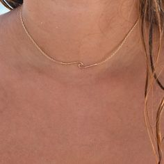 Make waves in our ocean wave necklace! Available in gold, rose gold and silver. Wear our wave necklace as a choker or long and layered! It's a summer must have for every beach lover. Check out our collection of wave jewelry! Cute Necklace, Simple Necklace, Layered Necklace, Summer Necklace, Pendant Necklace, Dangle Earrings, Delicate Jewelry, Simple Jewelry, Porte Bijoux