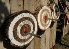 throwing knife log target and stand - Google Search