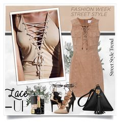 """""""Lace-UP"""" by sneky ❤ liked on Polyvore featuring W118 by Walter Baker, Ruthie Davis, NARS Cosmetics and Guerlain"""