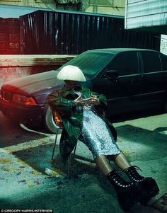 SIA wears futuristic fashion by Viktor & Rolf, Dior, Alexander McQueen, Junya Watanabe, and Alexander Wang boots for the April 2015 issue of Interview Magazine. Editorial Fashion, Fashion Art, Fashion Models, Fashion Beauty, Fashion Images, Fashion News, Latest Fashion, Alexander Wang, Alexander Mcqueen